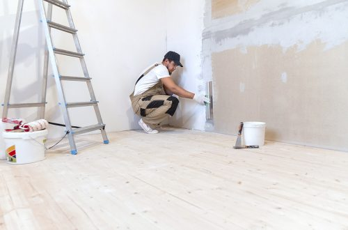 Young man offering Melbourne painting services