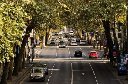 Road with cars